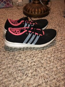 ($10) Adidas black and pink reflective shoes