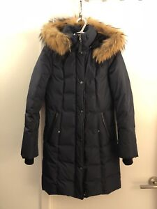 Mackage Down Parka - Navy Blue, Size XS - Excellent Condition