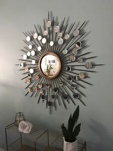 Large Round Sunburst Wall Mirror