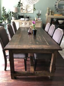 Custom made solid wood dining table