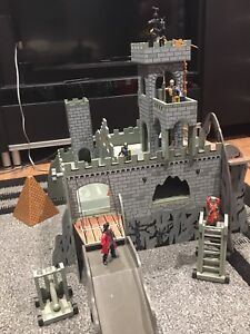 Medieval Castle with 5 Characters and 1 Horse