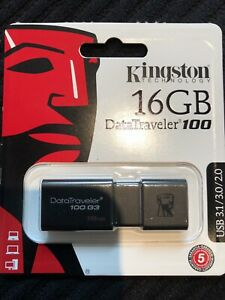 New USB 16 GB DT100 3.0 and 3.1