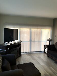 Horizontal and vertical blinds.