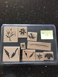 Stampin' Up rubber stamp sets $10 each set or $70 for all 8