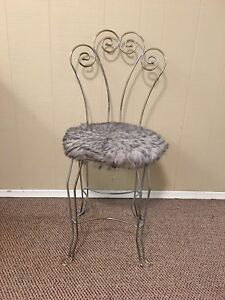Small vanity chair
