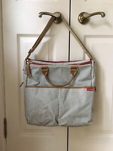 Skip Hop Diaper Bag - Duo Luxe French Stripe