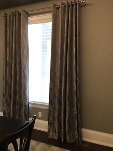 Brand new curtains with matching table and buffet runners