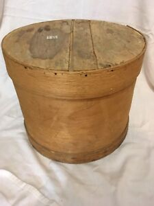 Vintage wood cheese box
