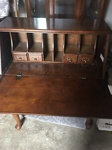 Wooden pull down type desk