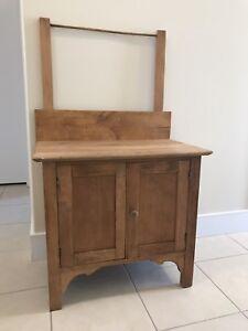 Antique Solid Maple Wash Stand/ Dry Sink /Dresser/ Cupboard