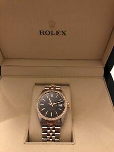 Rolex Two Tone DateJust 36mm with Diamond Bezel
