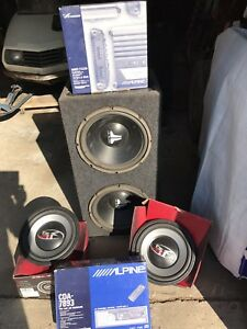 Alpine Rec MRP T220 Amp JL Audio Boombox Punch Speakers