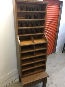 Original post office mail sorter cubby hole