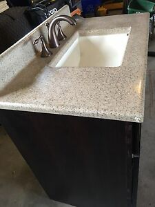 Vanity, with top, and taps