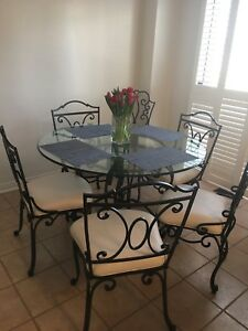 Bombay Company Glass Bistro Table/Chairs