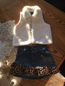 Toddler Vest and Skirt Outfit for Sale