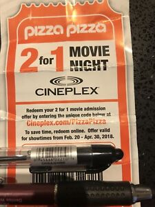 Movie Coupon 2 for 1