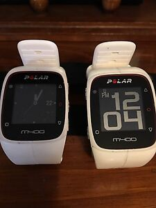 2 Polar M-400 with heart rate monitors
