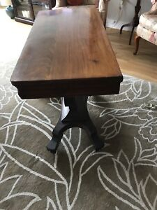 Antique convertible multi use occasional table