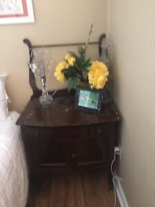 Antique dresser and matching commode
