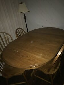 Wooden table set