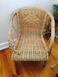 Vintage children's cane chair