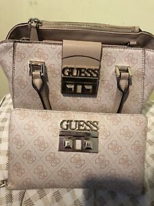 Blush pink guess purse with match clutch wallet