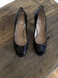 2 pairs of Stuart Weitzman black / nude  patent pumps