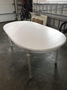 Solid oak distressed table