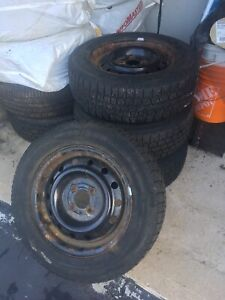 4 Ford Focus winter tires on rims