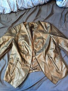 XL faux leather blazer/jacket