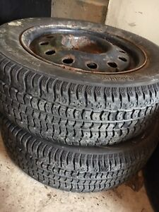 205/65/R15 two snow tires with rims