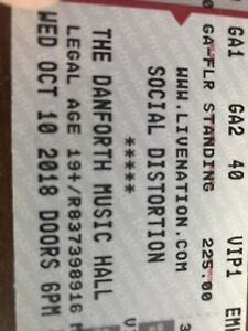 Social Distortion VIP tickets