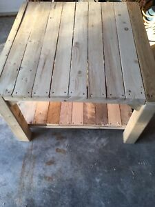 Solid rough spruce coffee table