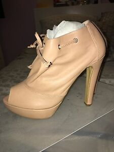 Nude Ankle Booties - Tony Bianco - Size 8 Rochedale South Brisbane South East Preview