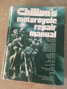 Motorcycle repair manual book