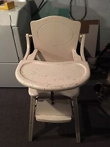 Antuique baby high chair