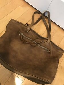 Roots Leather Tote Bag