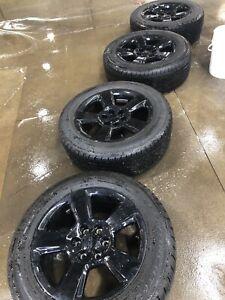 GMC Sierra Chevrolet Silverado black wheels