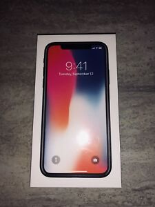 iPhone X brand new in box just got it from apple