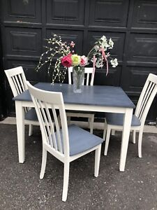Solid wood painted dining set
