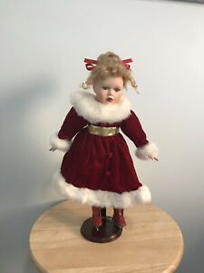 Vintage Porcelain Figure Skater Doll (Sabrina Carrera with Tag)