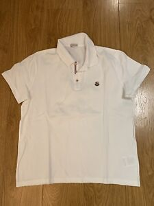 Moncler MENS AUTHENTIC white short sleeve polo size XL