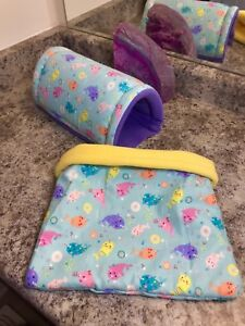 Fleece cage liners and accessories