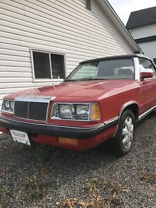 1986 Chrysler LeBaron, lost storage, must sell !!!!!!'