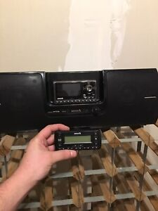 Sirius boom box with sub and 2 head units