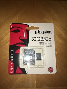 Kingston MicroSD card with SD adapter 32GB