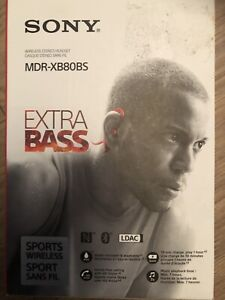 Sony In-Ear Wireless Sports Headphones with Built-In Mic - MDR-X