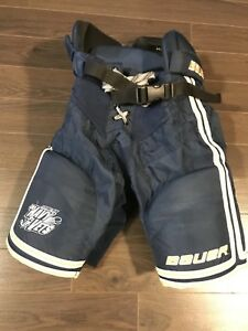 Bauer Youth Size M Jr Navy Vets Hockey Pants