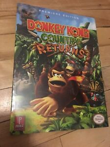 Donkey Kong country returns guide strategie livre BOOK neuf new